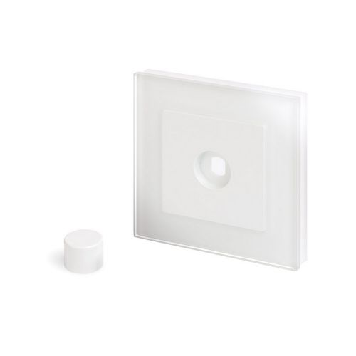 RetroTouch 1 Gang LED Dimmer Plate White Glass PG 02052